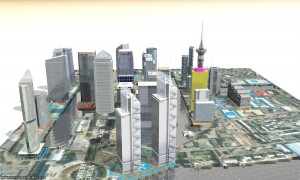 canary-wharf-london-3d map