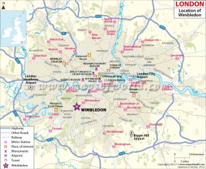 Wimbledon-London-Map